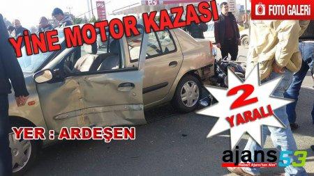 Ardeşen'de Trafik Kazası : 2 Yaralı