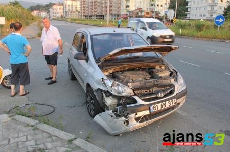 Rize'de trafik kazası...