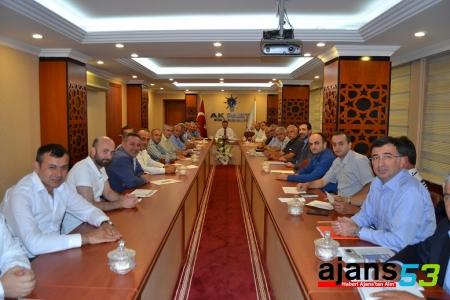 Eylül Ayı İlçe Başkanları Toplantısı Yapıldı