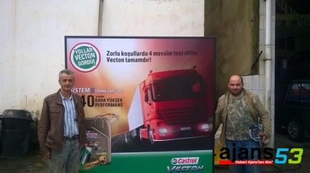 Castrol VECTON Motor Yağları Rize'de Tanıtıldı