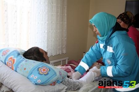 Rize'de, evde sağlık hizmetleri