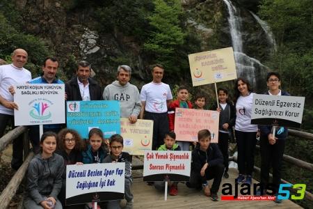"""Arap Düzü Doğa Parkı'nda  """"Sağlıklı Yaşam Yürüyüşü"""" düzenlendi"""