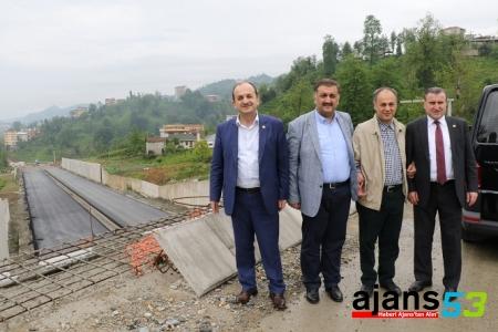 AK Vekillerden Veliköy ve Güney Çevre Yolunda İnceleme
