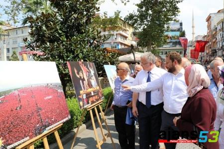 AK Parti Rize'den '15 Temmuz Milli İradenin Yükselişi' Sergisi