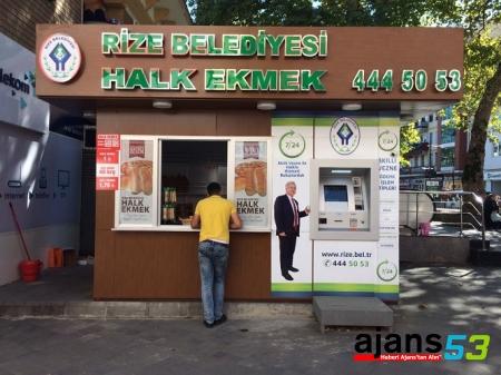 Rize'de Halk ekmek 1 TL