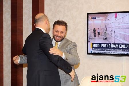 AK Parti Rize'den Bakan Soylu'ya Tebrik Ziyareti