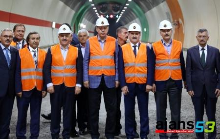 Erdoğan Ovit Tüneli'nde incelemelerde bulundu