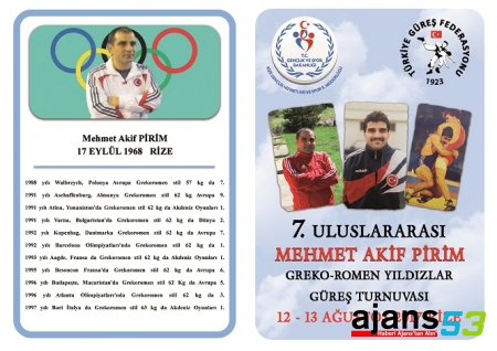 Mehmet Akif Pirim Güreş Turnuvası başlıyor
