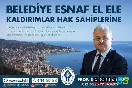 Belediye Esnaf El Ele Kaldırımlar Hak Sahiplerine