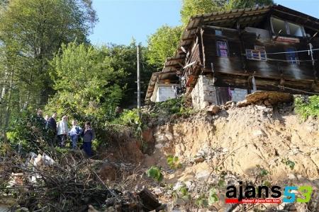 Rize Valisi Bektaş, afet sonrası yürütülen çalışmaları yerinde inceledi