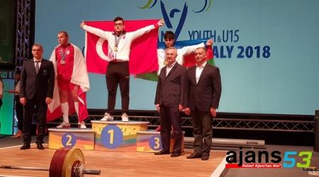 Rizeli Onur Demirci Rekor kırarak Avrupa Şampiyonu oldu
