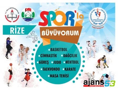Rize'li öğrenciler Sporlar Büyüyor